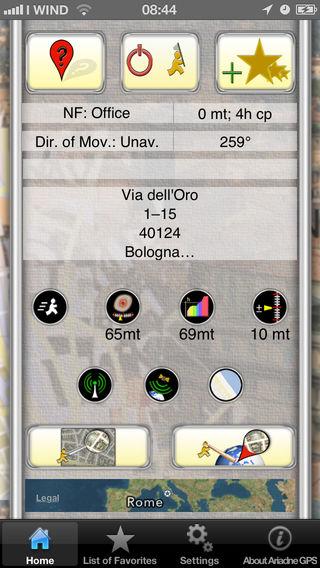 schermafbeelding van Ariadne GPS