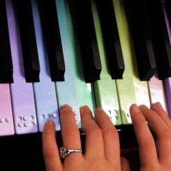 braille op muziek toetsenbord