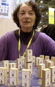 domino stenen met braille gemaakt door mevrouw Michèle Samoyau