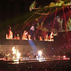 Concert van Lady Gaga - foto van de buhne
