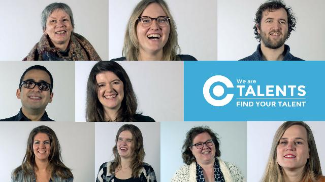 talent in de spotlight videoportretten campagne beeld met logo