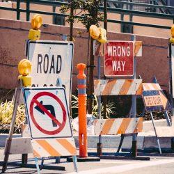 blokkades op de weg