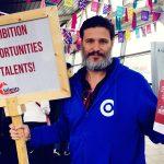 Ook Yigal flyers met het promotiebord van Ctalents: We C Ambition, We C Opportunities, We C Talents!