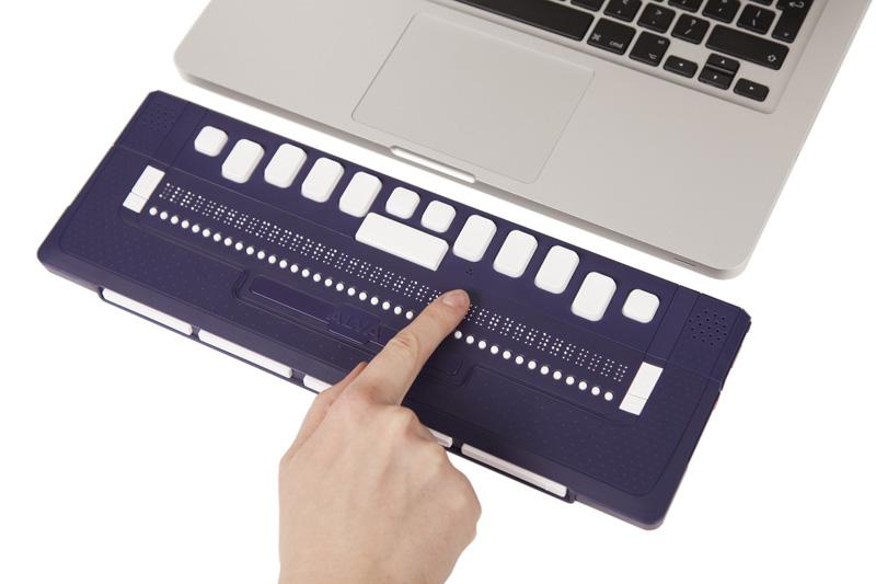 MacBook met brailleleesregel (Alva 640 Comfort)